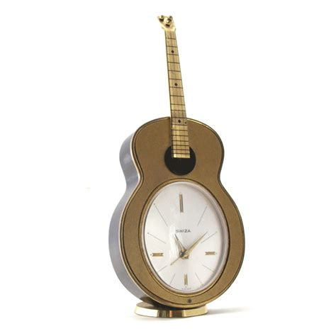 vintage swiza quot guitar quot musical alarm clock cuendet box swiss made ebay