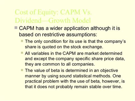 Capm Vs Mba by Mba 2 Fm U 3 Cost Of Capital