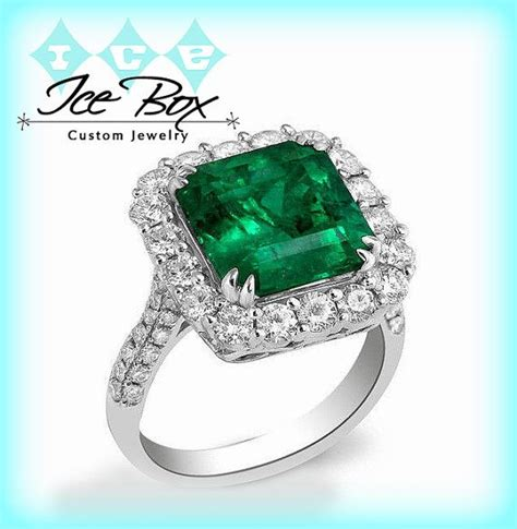 emerald engagement ring 8mm 3 4ct square emerald