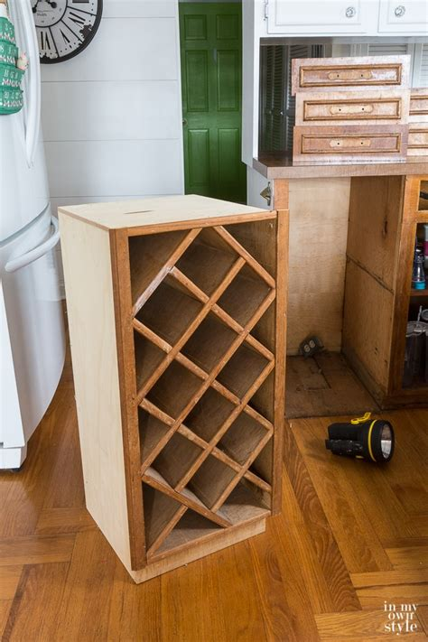 how to paint a built in kitchen wine rack   In My Own Style