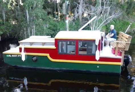 living on a boat in florida tiny house vacation in a tiny shantyboat in deland fl