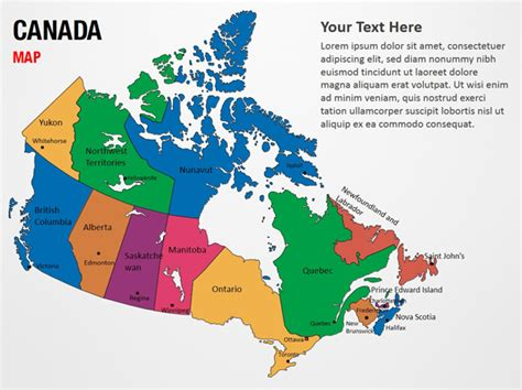 us and canada map for powerpoint canada map for powerpoint
