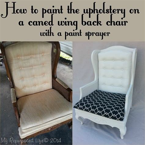 how to paint an upholstered chair painting upholstered furniture by my repurposed