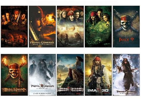 the pirates of the caribbean series 10 pcs lot pirates of the caribbean series movie poster