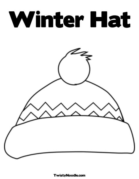 Winterhatcoloringpage Search Results Calendar 2015 Winter Hat Coloring Page