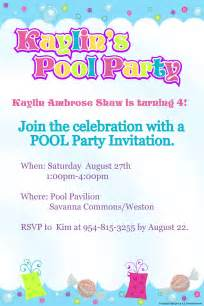 pool invite template pool invites templates invitations templates
