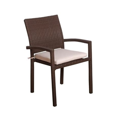 Patio Chairs Brown International Home Atlantic 4 Patio Dining Chair In