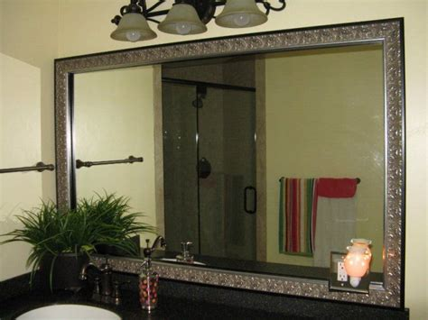 stick on frames for bathroom mirrors bathroom mirror frames that stick to your existing mirror