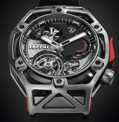 Hublot Ferrari hublot techframe ferrari tourbillon chronograph watch