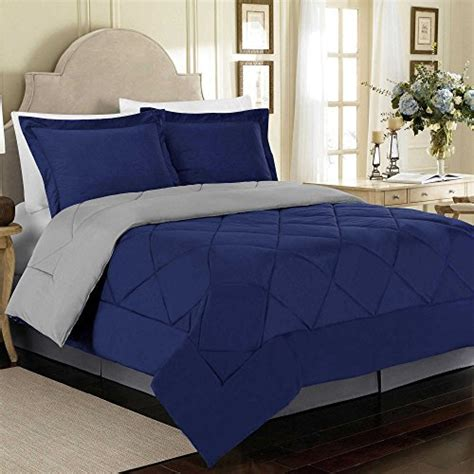 Gray Pattern Comforter by Solid Reversible Microfiber Bedroom Bedding Quilt Pattern