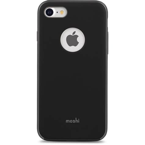 moshi iglaze for iphone 7 black 99mo088002 b h photo