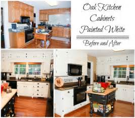 painted oak cabinets before and after remodelaholic from oak kitchen cabinets to painted white