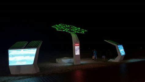 palm tree solar lights wordlesstech solar powered smart palm trees