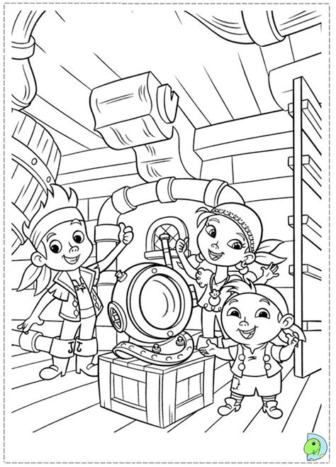 Jake And Neverland Coloring Page jake and the neverland coloring page dinokids org