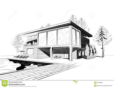 modern house coloring page excellent modern home architecture sketches on home design