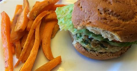 Detox Sweet Potato Fries by Arbonne 28 Day Challenge Recipe Turkey Burgers With Sweet