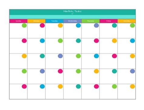 colourful printable monthly planner musings of an average mom free printable blank calendars