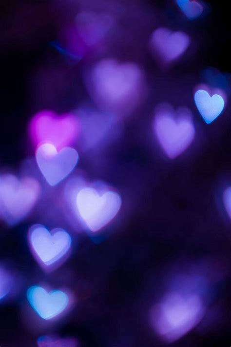 wallpaper for iphone purple purple hearts bokeh iphone smartphone wallpaper background