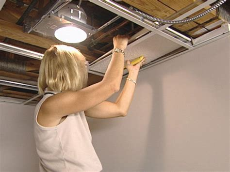 Lights For A Drop Ceiling How To Install An Acoustic Drop Ceiling How Tos Diy
