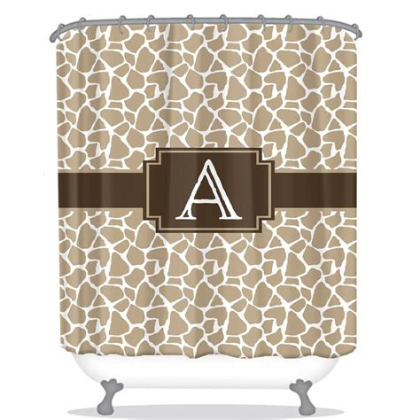 monogram shower curtains monogram shower curtain giraffe be monogrammed