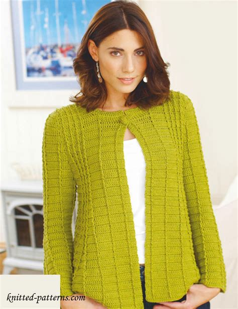 knitted jacket patterns free womens crochet s jackets