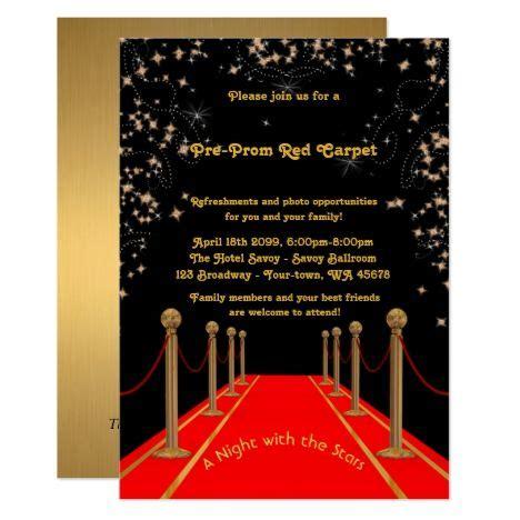 Pre Prom Invitation Pre Promred Carpetthth