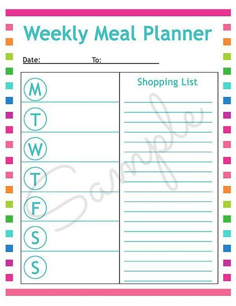 free printable meal planning ideas best 25 menu planning printable ideas on pinterest