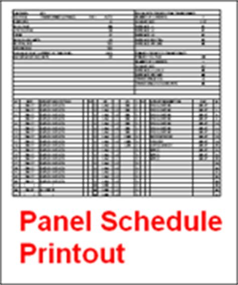 Panel Schedule Template Excel by 1 Line Software