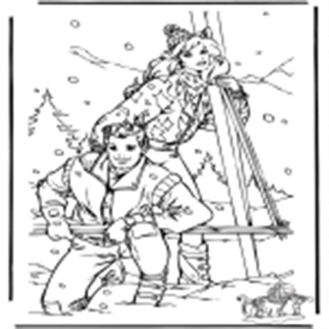 barbie winter coloring pages snow winter coloring pages