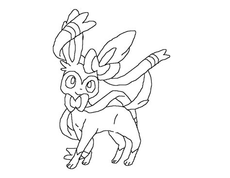 pokemon coloring pages sylveon sylveon lineart by zillapokegirl on deviantart