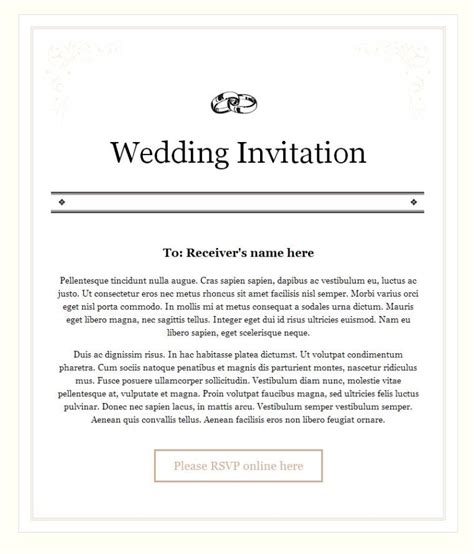 informal wedding invitation letter sle new wedding invitation wording in email wedding invitation design
