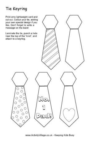 mens tie template tie bookmarks