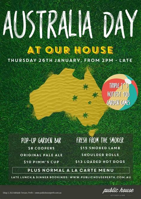 day posters australia day perth celebration events and ideas