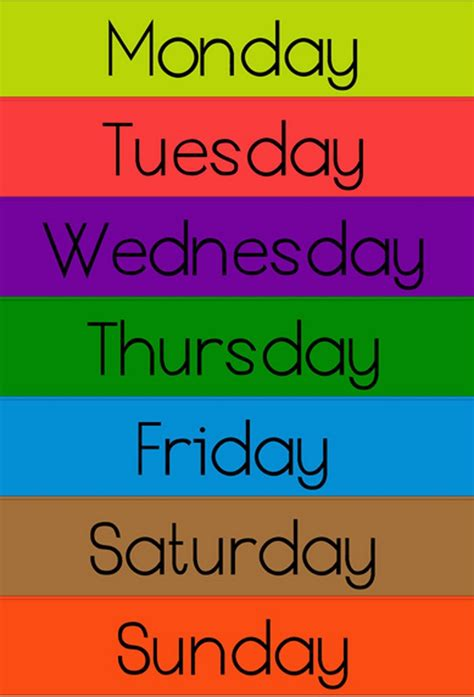 The Day nursery rhymes days of the week ency123