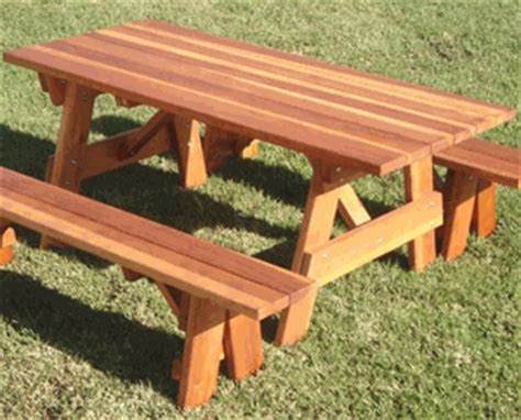 Best Redwood Traditional Picnic Table Only