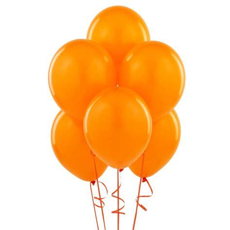 12 quot orange balloons