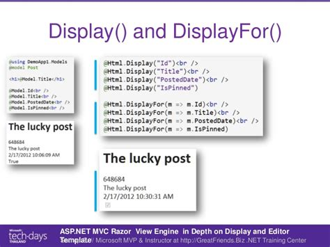 asp net mvc razor in depth on display and editor templates