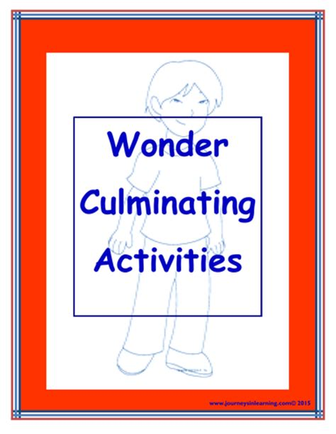 wonder 3 activity 8466812717 wonder r j palacio culminating activities by pimentm teaching resources tes