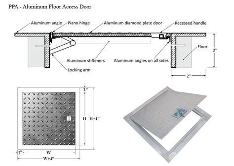 Floor Access Doors by Cendrex Aluminum Floor Access Door Harbor City Supply