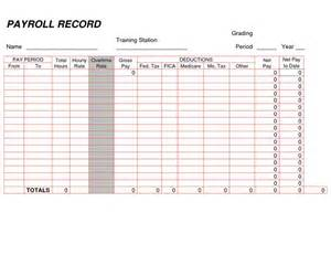 Payroll Record Template by Printable Payroll Ledger Blank Payroll Record Pdf