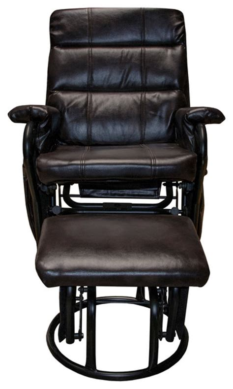 leather glider recliner with ottoman harrison bonded leather glider recliner with ottoman