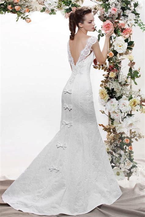 imagenes del vestido de novia de niurka свадебные платья с открытой спиной с рукавами со шлейфом