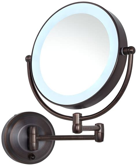 aa battery operated cordless lighted makeup mirror led