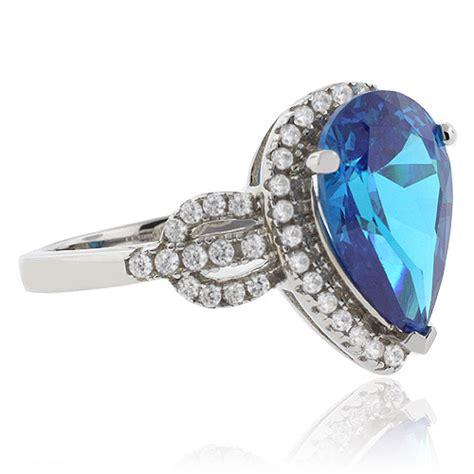 vintage blue topaz silver ring silverbestbuy