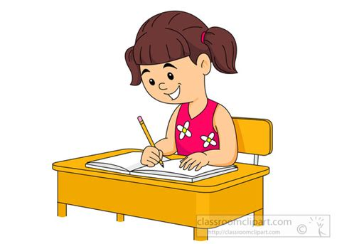 student sitting at desk clipart student sitting at desk writing in notebook clipart id