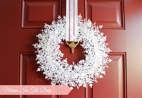 Weihnachtsdeko Fensterbank Lichter by Dollar Store Diy My Snowflake Wreath