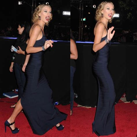 taylor swift herve leger dress taylor swift looks like trouble in herv 233 l 233 ger at the mtv vmas