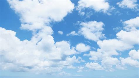 timelapse  moving clouds  blue sky stock footage