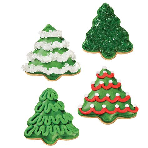 christmas decorating ideas cookie outdoor tree a grove of christmas tree cookies wilton