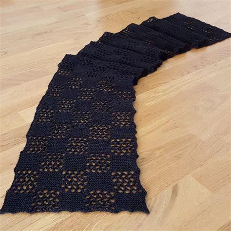 checkered knitting pattern checkered lace scarf allfreeknitting